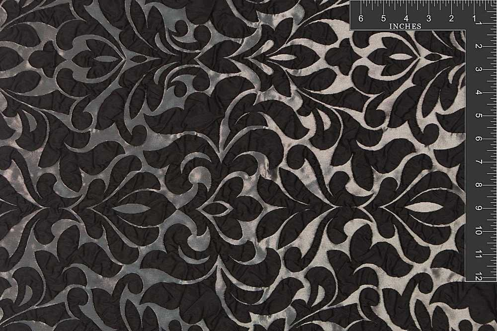 "M1045 / JET / ""SCALA"" 100% POLY 3-D DAMASK"