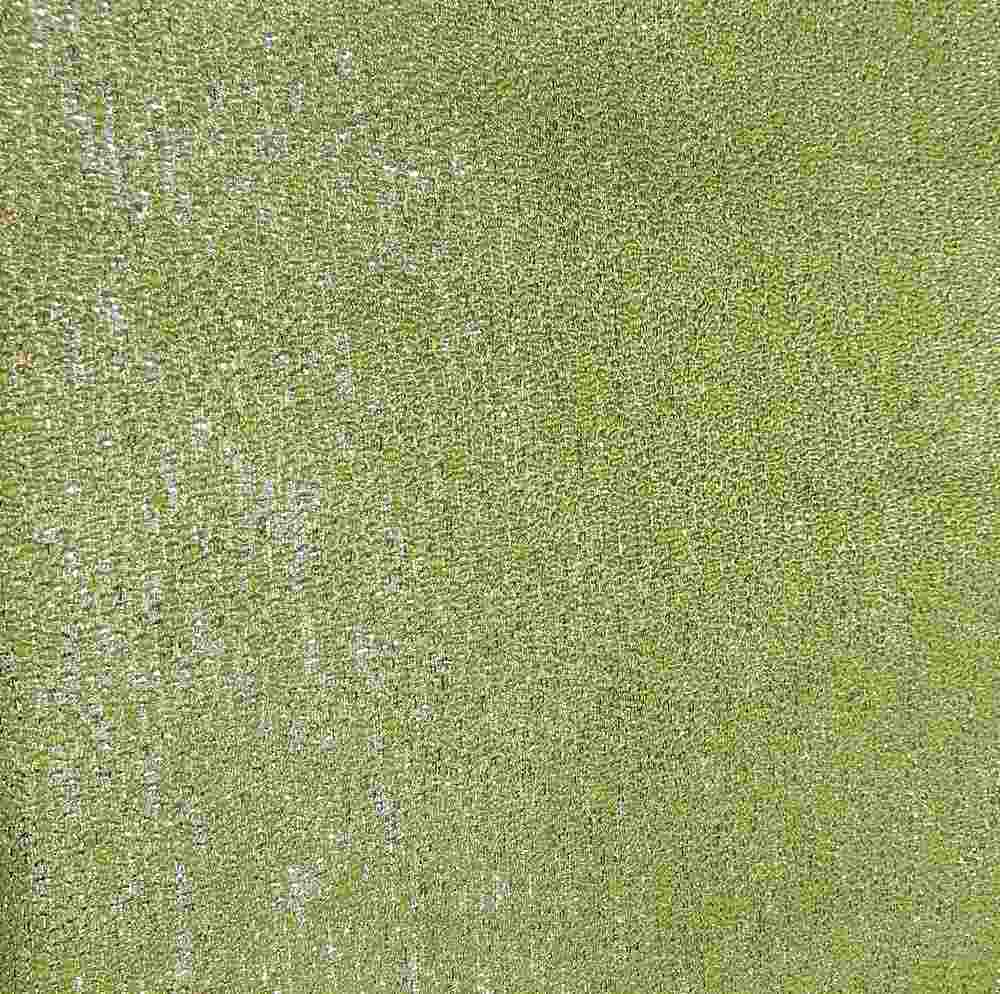 """M1059 / LIME LIGHT / """"MIST ELECTRIC """" 100% POLYESTER"""