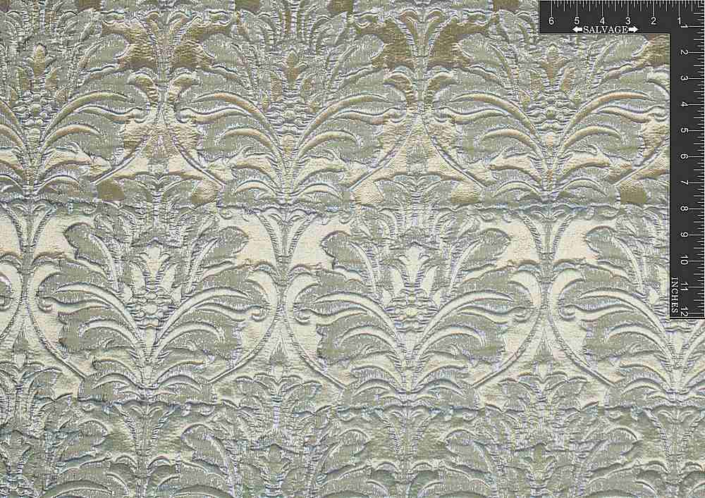 "M1068 / BEIGE FROST / ""DAMASK GLAM"" 100% POLYESTER"