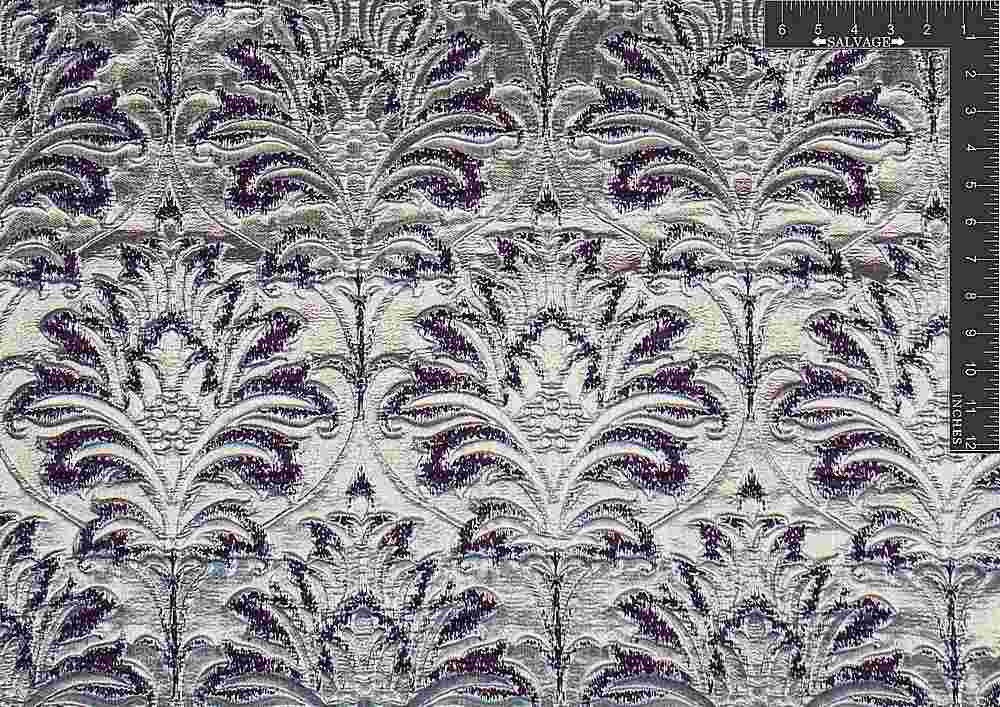 "M1068 / PLUM CHILL / ""DAMASK GLAM"" 100% POLYESTER"