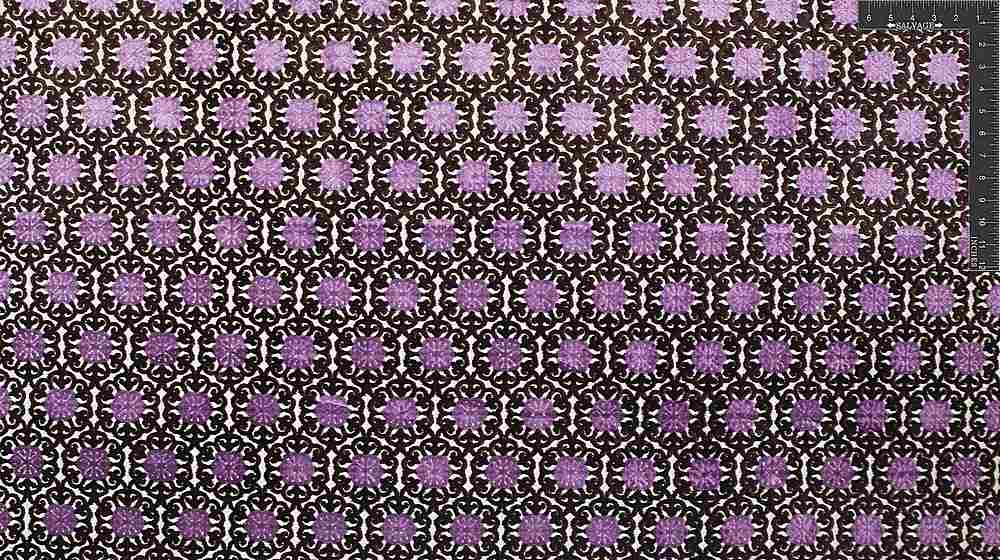 "VJ1012 / BROWN LAVENDER / ""ETHNIC TILE"" POLY VISCOSE VELVET JACQUARD"