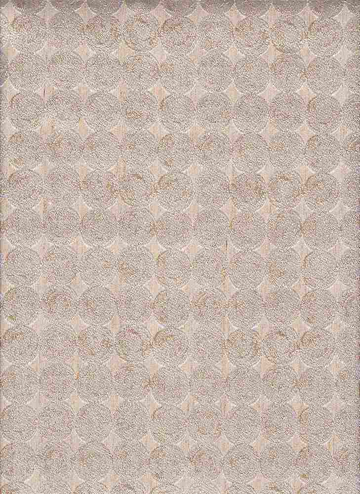"M1083 / IVORY / ANGERS"" 100% POLYESTER WOVEN METALLIC JACQUARD """