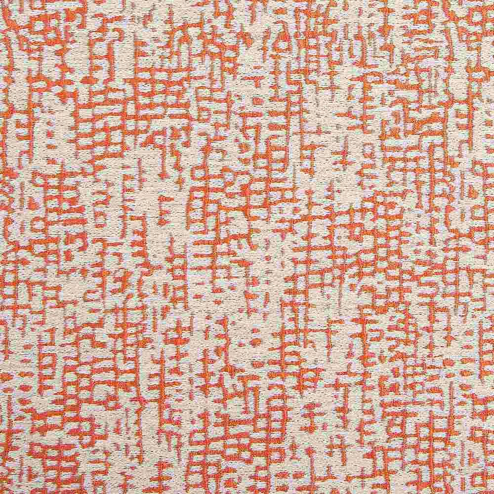 """NOV/033 / TANGERINE / """"Metrix"""" 93% Polyester 7% Linen"""