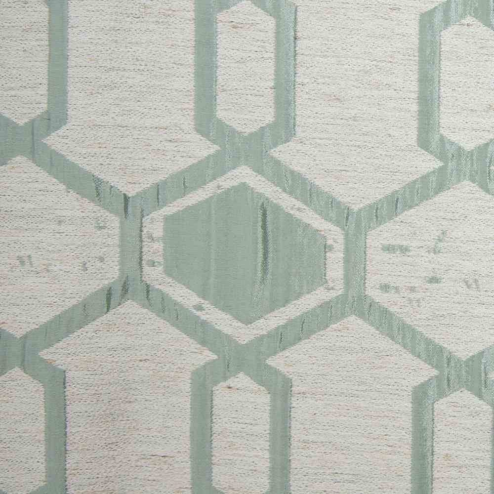 "NOV/034 / SEAFOAM / ""Hex"" 93% Polyester 7% Linen"