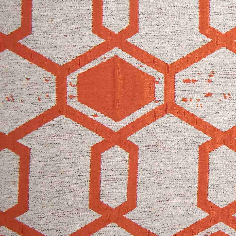 """NOV/034 / TANGERINE / """"Hex"""" 93% Polyester 7% Linen"""