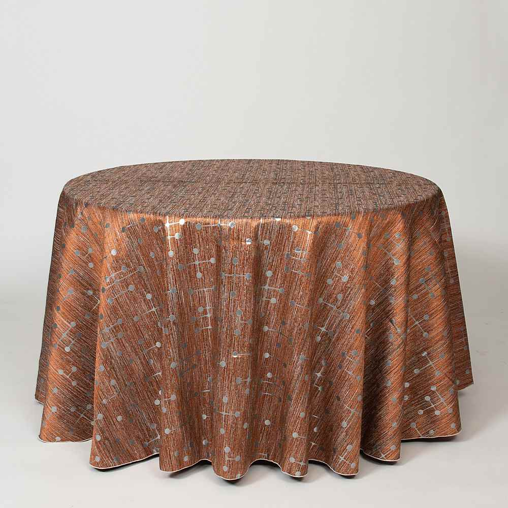 M1085 COPPER RESIDENTIAL GRADE JACQUARD WOVEN METALLICS GREY ORANGE OTHERS DOUBLE WIDTH OVER MODERN/CONTEMPORARY GEOMETRIC BEDDING PILLOW EVENT DECORATIVE DRAPERY BROWN