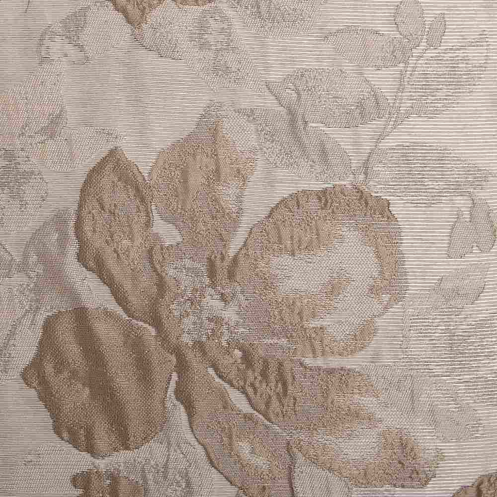 "NOV/042 / BRASS / ""Metal Magnolia"" 100% Polyerster Woven Jacquard"