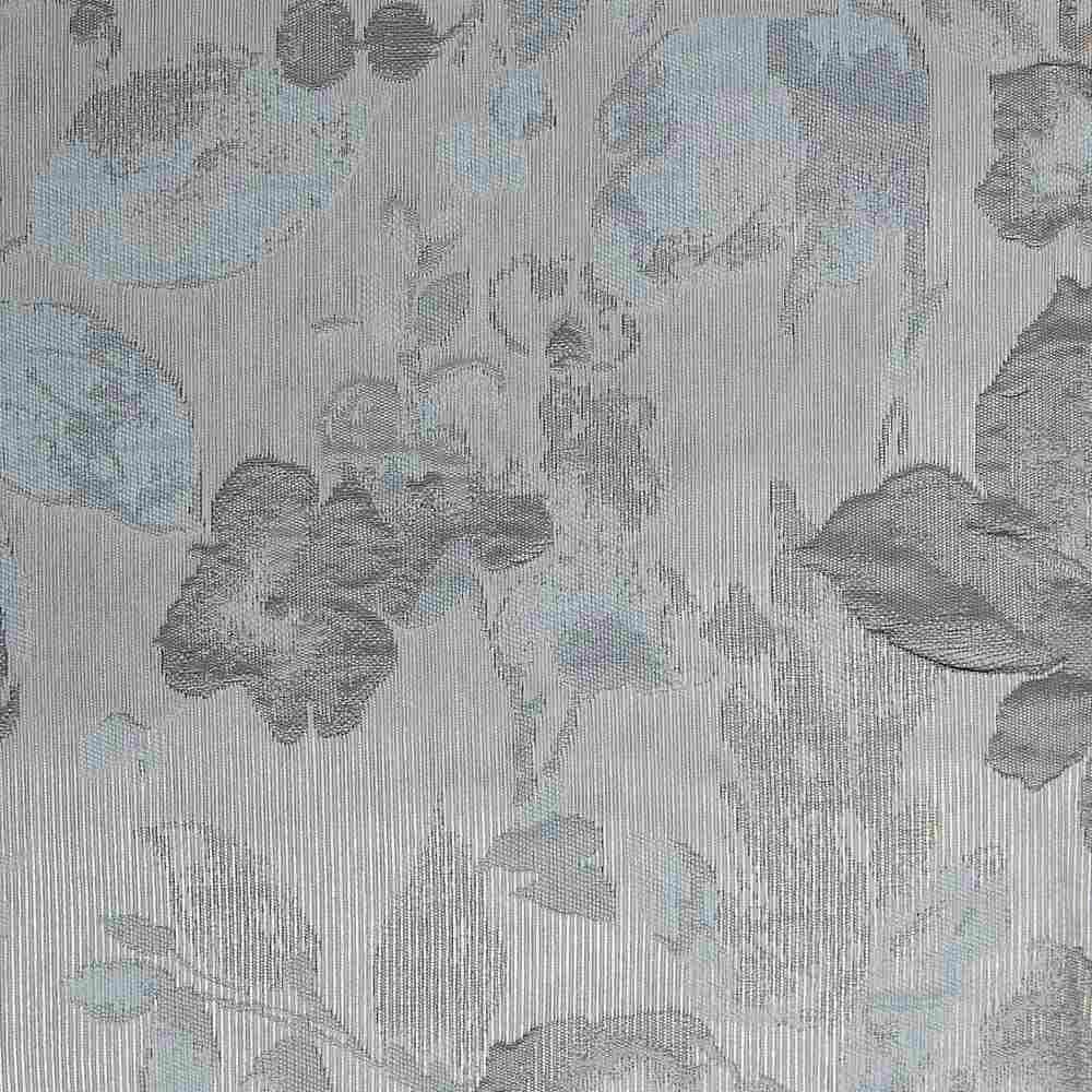 "NOV/042 / ALUMINUM / ""Metal Magnolia"" 100% Polyerster Woven Jacquard"