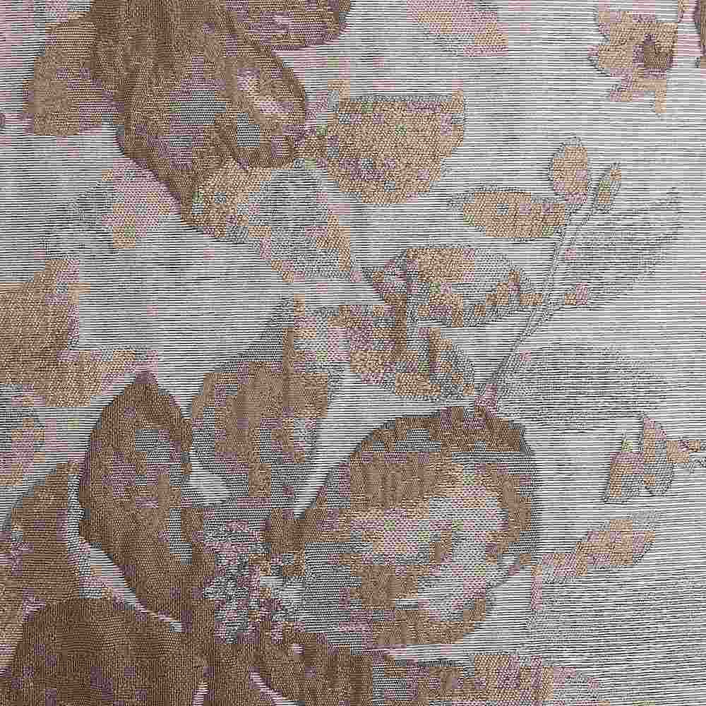NOV/042 BRONZE RESIDENTIAL GRADE JACQUARD WOVEN NOVELTIES POLYESTER 100% DOUBLE WIDTH OVER FLORAL BEDDING PILLOW EVENT DECORATIVE DRAPERY BROWN
