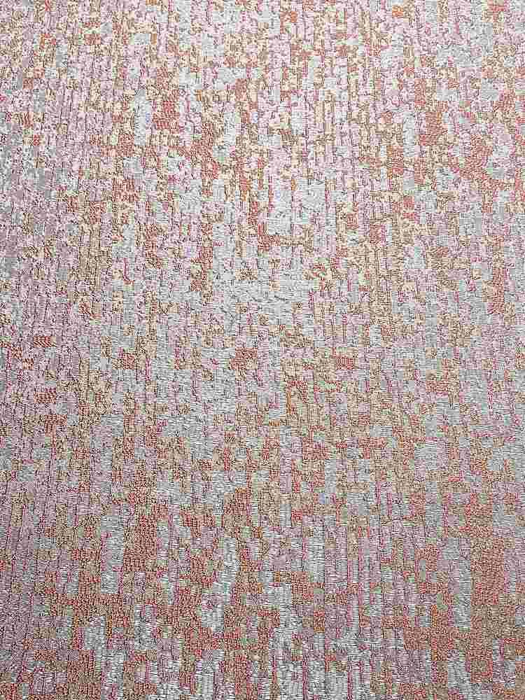 "NOV/043 / SALMON / ""Pine Bark"" 100% Polyester Woven Jacquard"