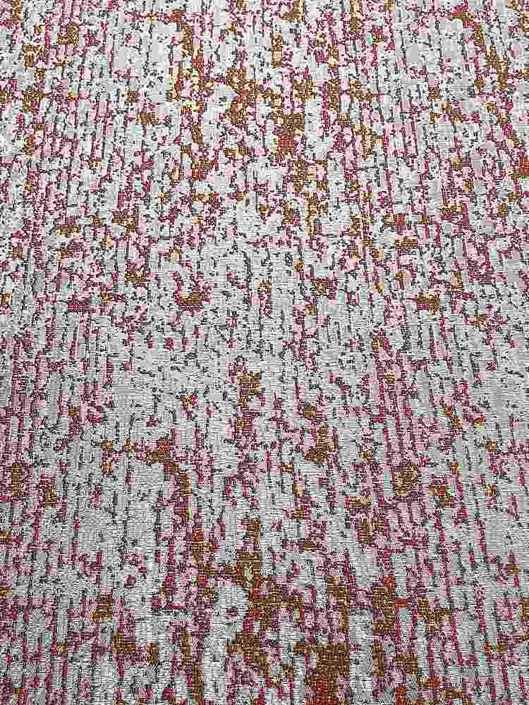"""NOV/043 / TANGERINE / """"Pine Bark"""" 100% Polyester Woven Jacquard"""