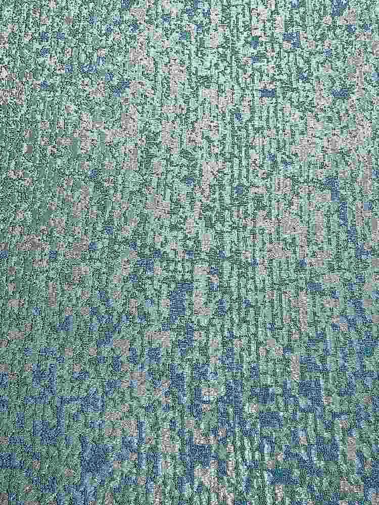 "NOV/043 / TEAL / ""Pine Bark"" 100% Polyester Woven Jacquard"