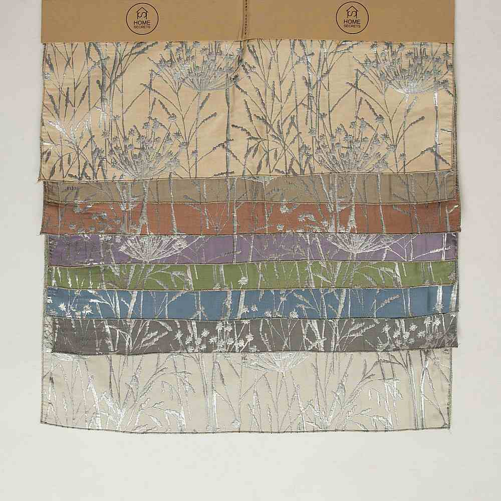 "M1104 / 28""X28"" HEADER / ""WILD CARROT"" 100% POLYESTER WOVEN JACQUARD"