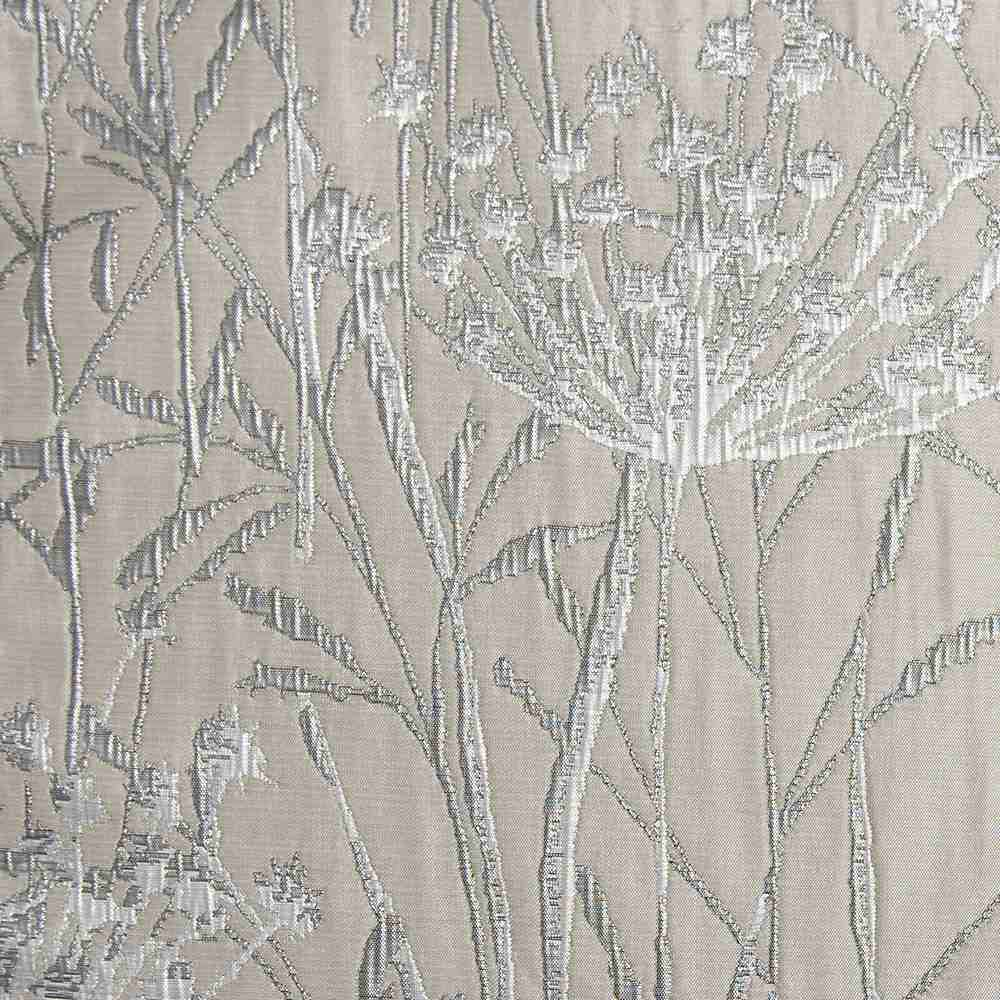 "M1104 / WHITE / ""WILD CARROT"" 100% POLYESTER WOVEN JACQUARD"