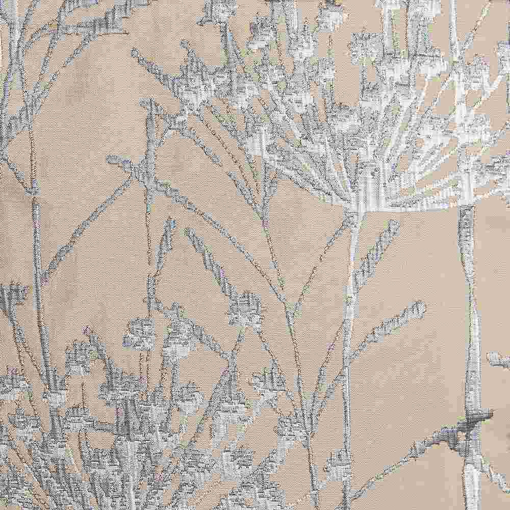 "M1104 / CREAM / ""WILD CARROT"" 100% POLYESTER WOVEN JACQUARD"