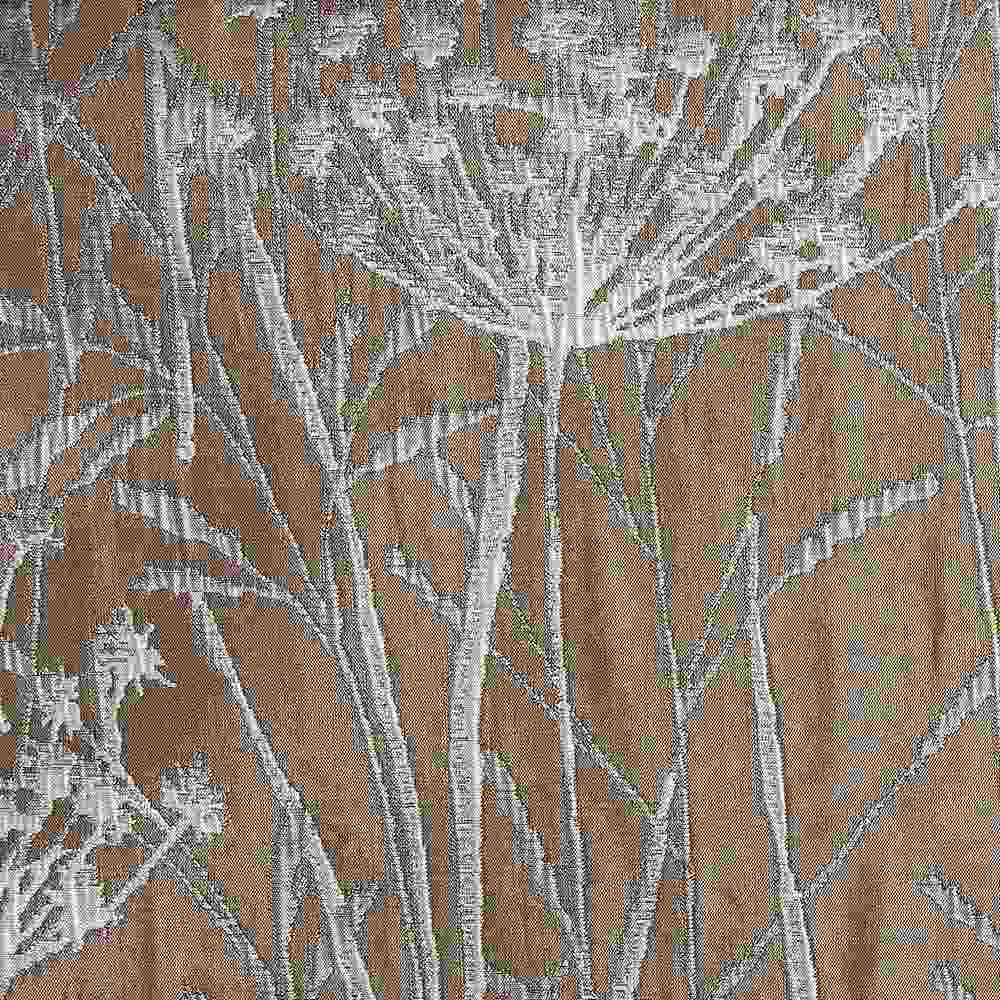 """M1104 / GREY / """"WILD CARROT"""" 100% POLYESTER WOVEN JACQUARD"""