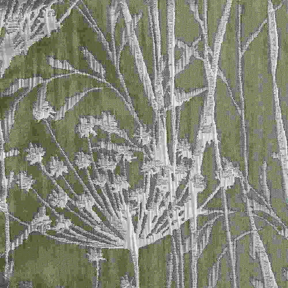 """M1104 / SAGE / """"WILD CARROT"""" 100% POLYESTER WOVEN JACQUARD"""