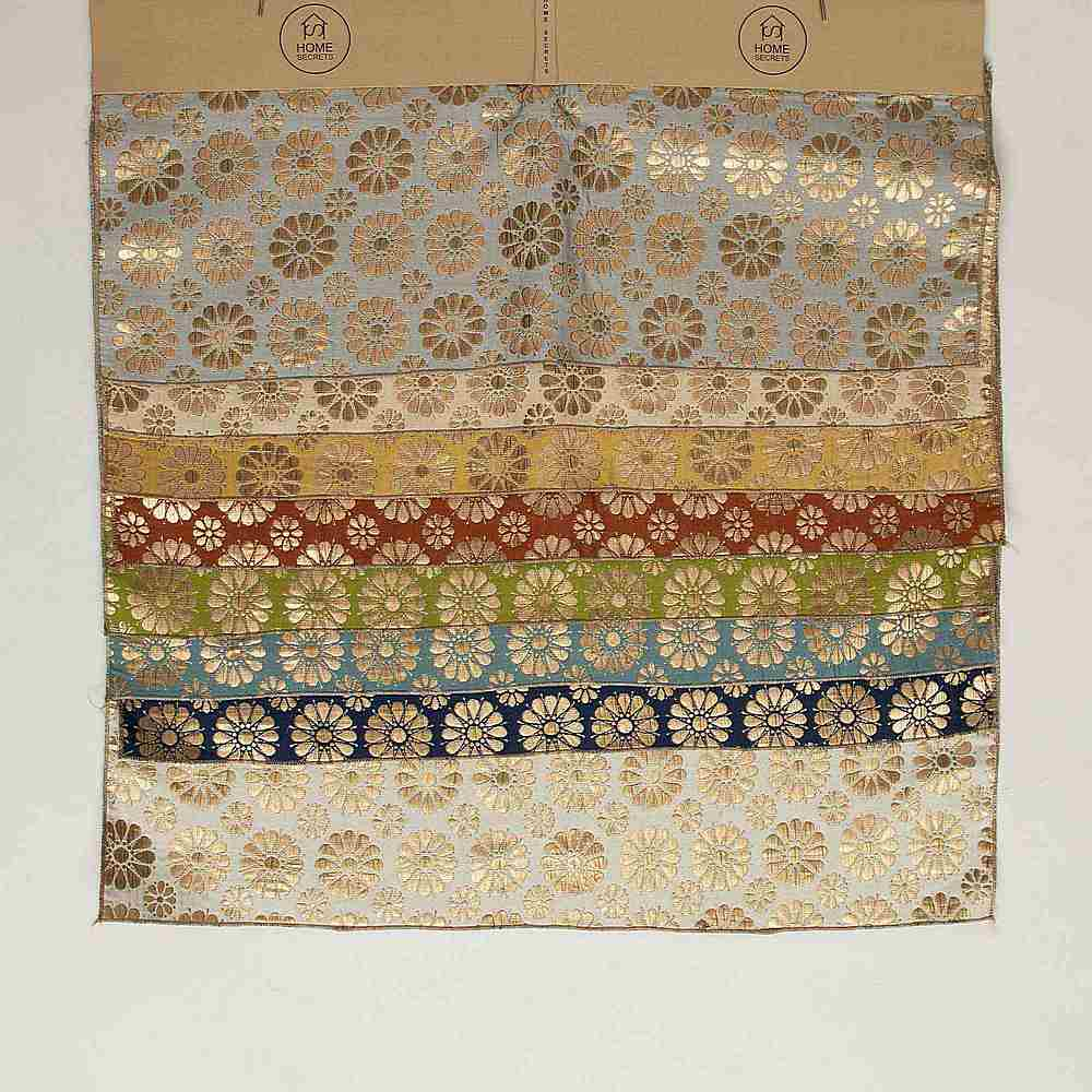 """M1105 / 28""""X28"""" HEADER / """"DAISIES"""" 100% POLYESTER WOVEN JACQUARD"""