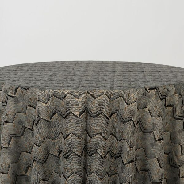 "M1111 / BLACK / ""ZIGZAG"" 100% POLYESTER AND LUREX WOVEN JACQUARD"