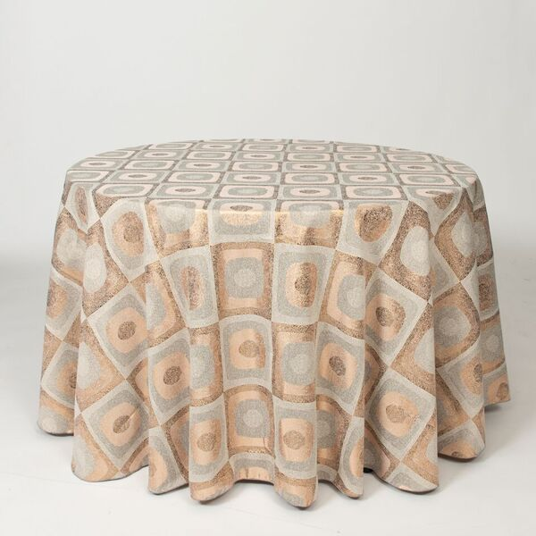 """M1113 / COPPER / """"ECLIPSE"""" 100% POLYESTER AND LUREX WOVEN JACQUARD"""
