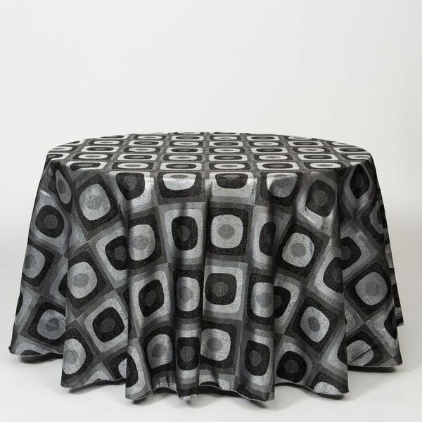 "M1113 / GUNMETAL / ""ECLIPSE"" 100% POLYESTER AND LUREX WOVEN JACQUARD"