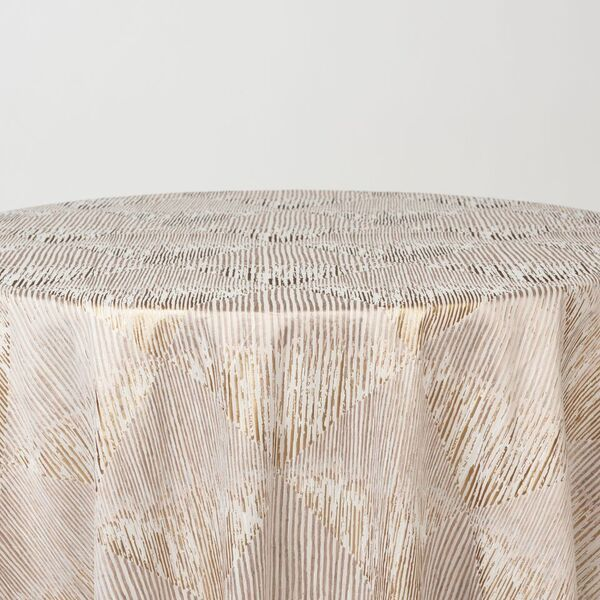 """M1114 / ROSE/GOLD / """"BARCODE"""" 100% POLYESTER AND LUREX WOVEN JAQCUARD"""