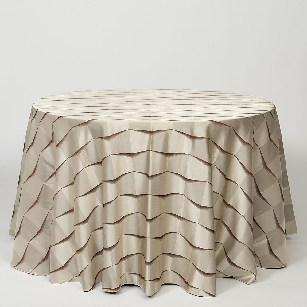 "NOV/050 / BRONZE / ""GEO-3D"" 100% POLYESTER WOVEN JACQUARD"