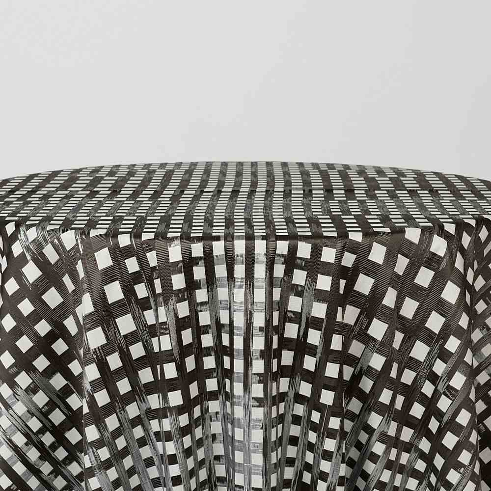 """M1120 / CHARCOAL / """"WEAVE"""" 100% POLYESTER AND LUREX WOVEN JACQUARD"""