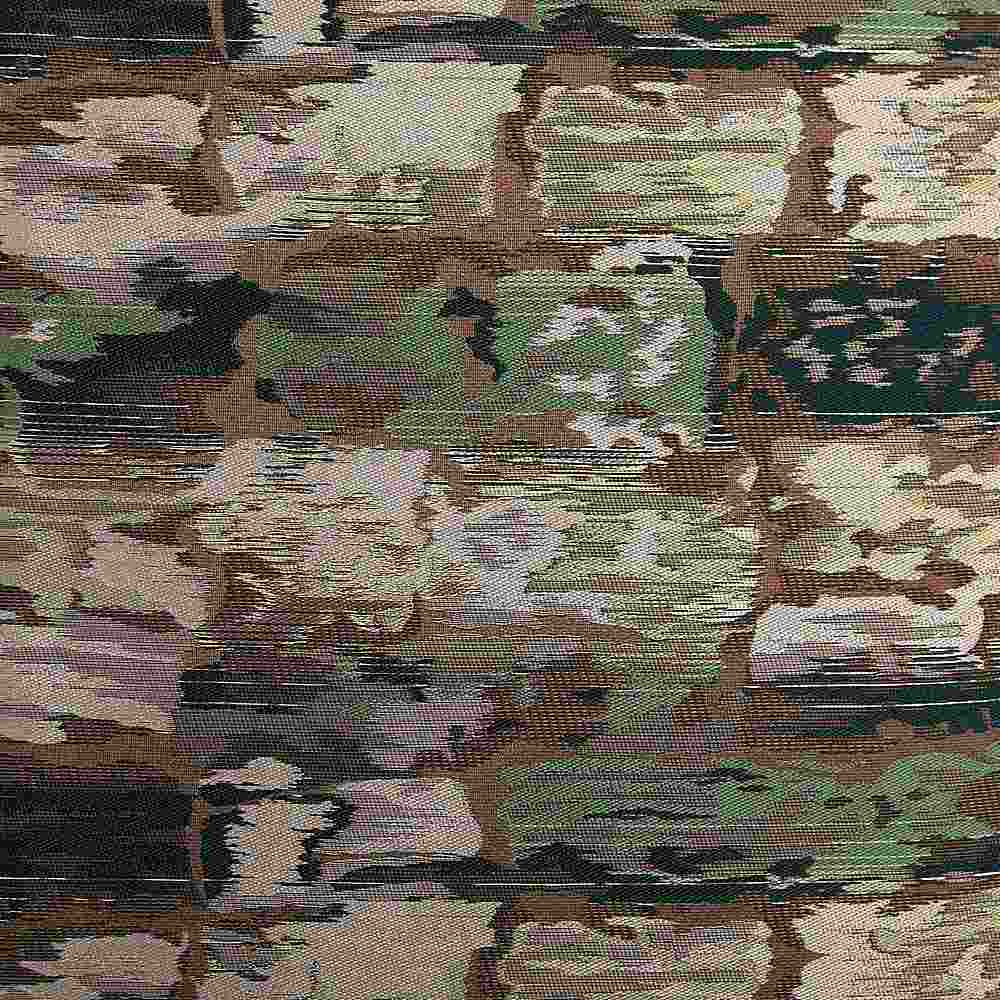 "M1121 / EMERALD / ""BRICKS"" 100% POLYESTER AND LUREX WOVEN JACQUARD"