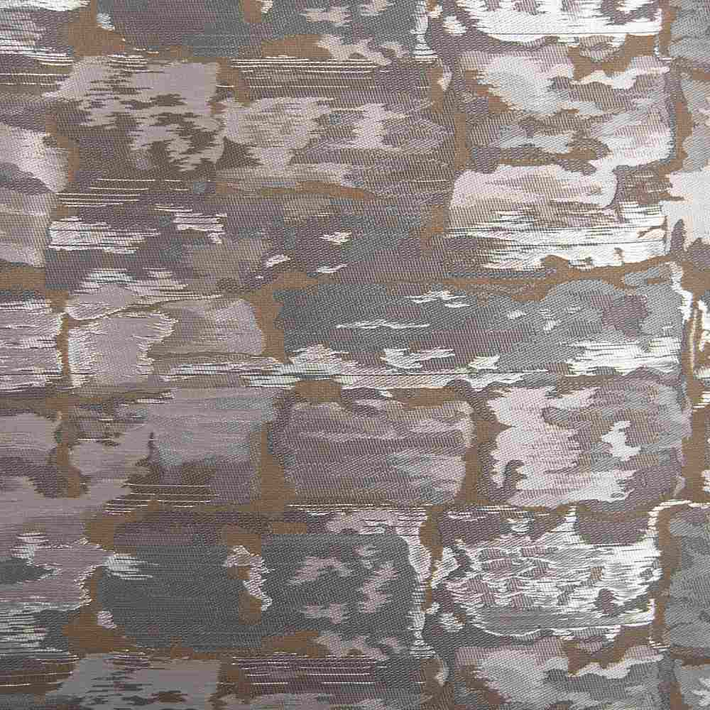 "M1121 / PLATINUM / ""BRICKS"" 100% POLYESTER AND LUREX WOVEN JACQUARD"