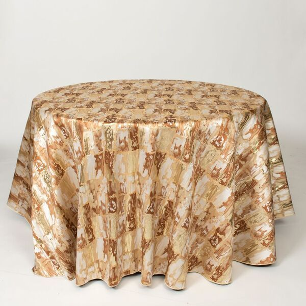 "M1121 / CARAMEL / ""BRICKS"" 100% POLYESTER AND LUREX WOVEN JACQUARD"