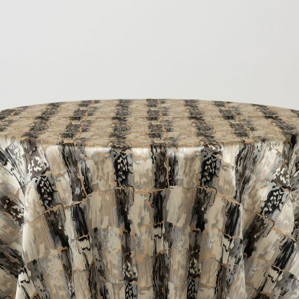 "M1121 / CHARCOAL / ""BRICKS"" 100% POLYESTER AND LUREX WOVEN JACQUARD"