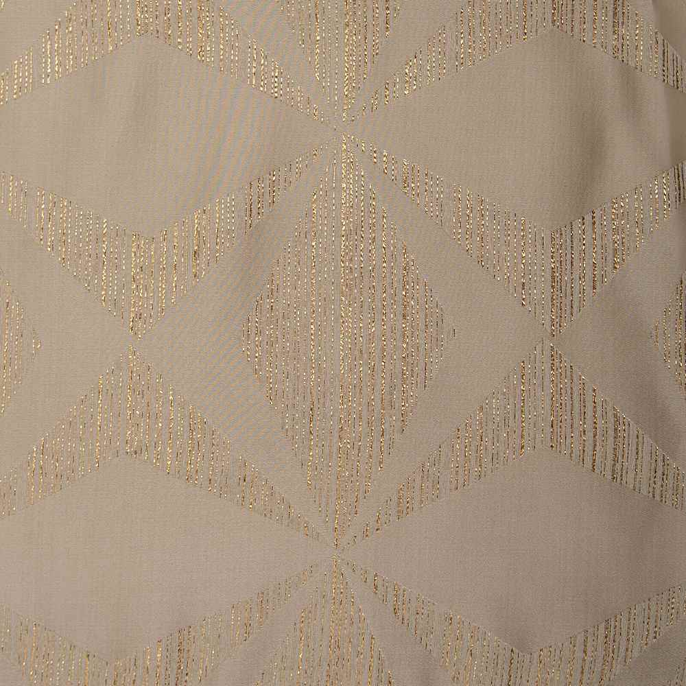"""M1122 / BEIGE / """"BOOMERANG"""" 100% POLYESTER AND LUREX WOVEN JACQUARD"""