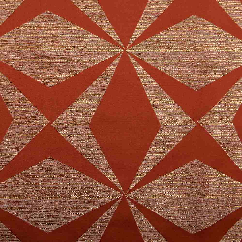 "M1122 / ORANGE / ""BOOMERANG"" 100% POLYESTER AND LUREX WOVEN JACQUARD"