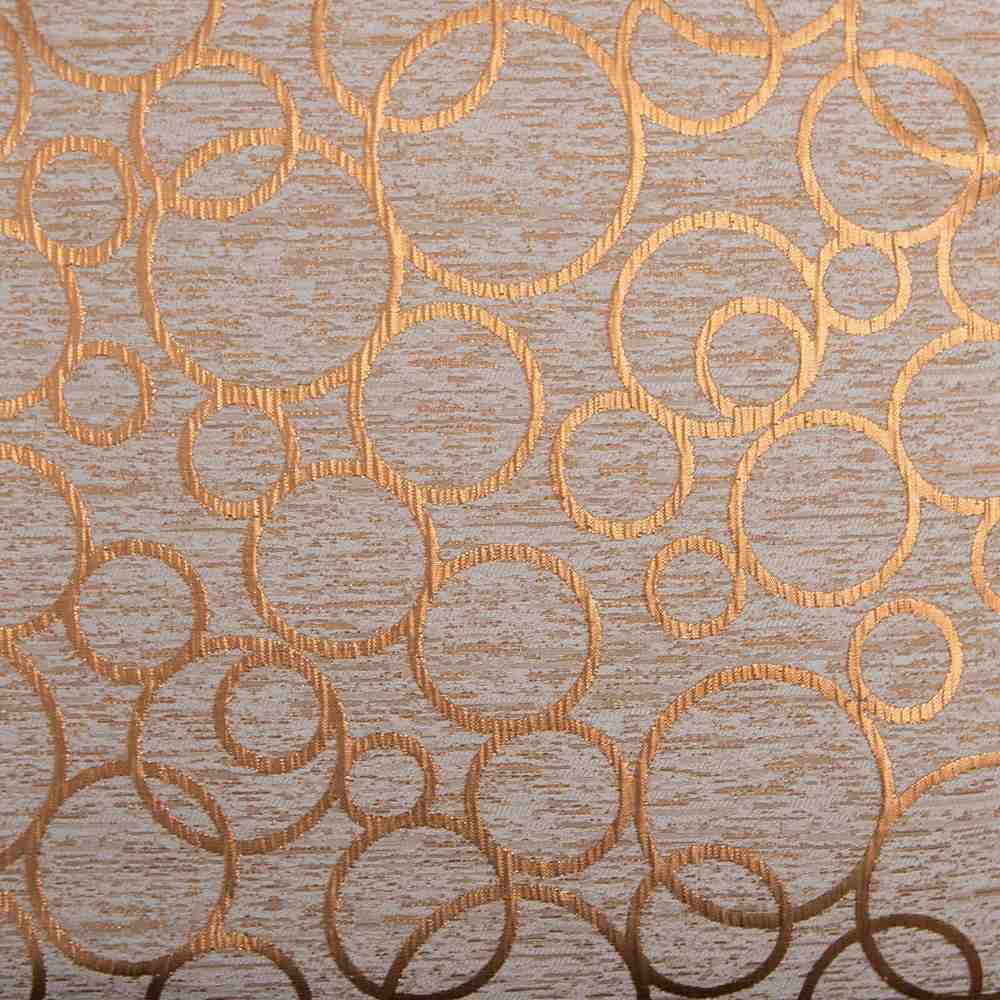 """M1123 / COPPER / """"RINGS"""" 100% POLYESTER AND LUREX WOVEN JACQUARD"""