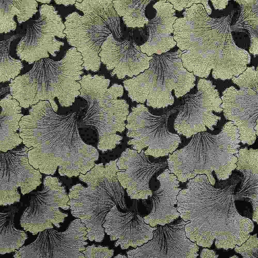 """M1126 / BLACK / """"CARNATION"""" 100% POLYESTER AND LUREX WOVEN JACQUARD"""