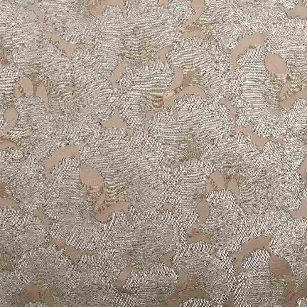 """M1126 / SILVER / """"CARNATION"""" 100% POLYESTER AND LUREX WOVEN JACQUARD"""