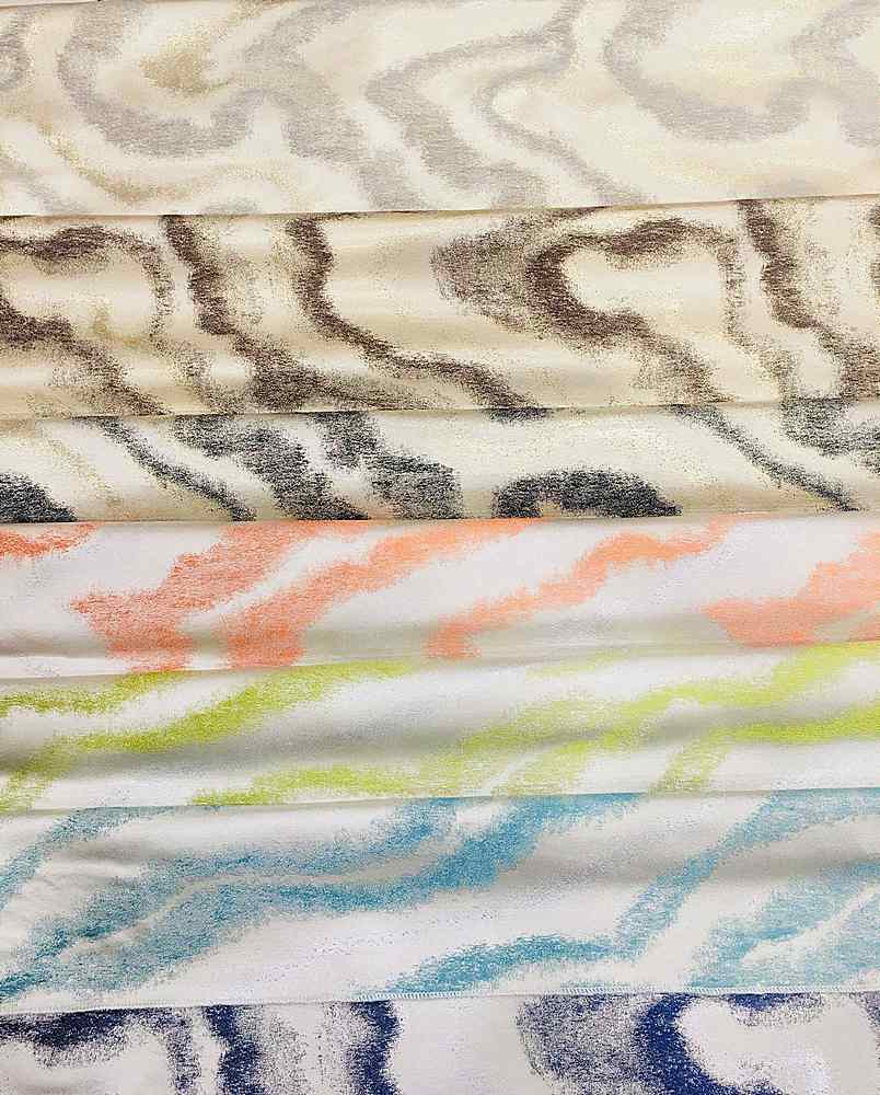"""M1127 / 14""""X28"""" HANGER / """"WAVES"""" 100% POLYESTER AND LUREX WOVEN JACQUARD"""