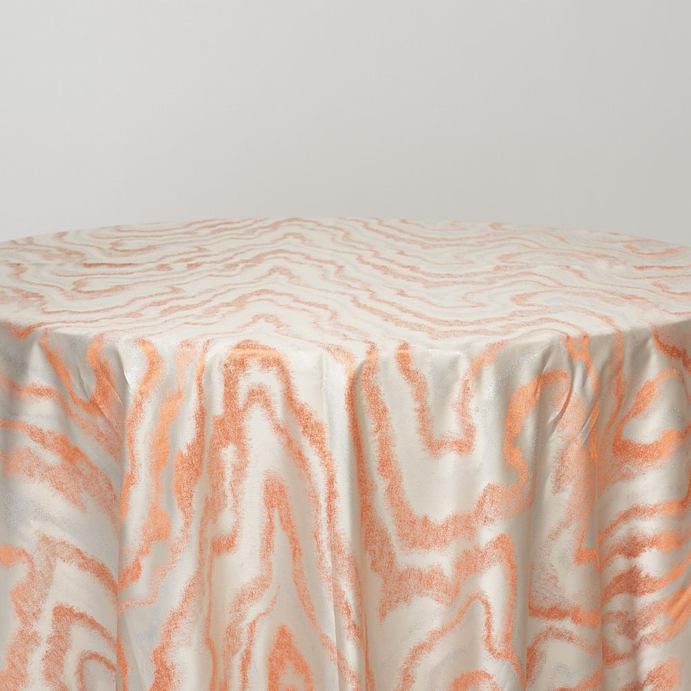 "M1127 / SALMON / ""WAVES"" 100% POLYESTER AND LUREX WOVEN JACQUARD"