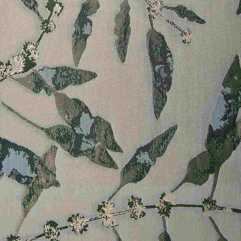 "M1128 / BASIL / ""BRANCHES"" 100% POLYESTER AND LUREX WOVEN JACQUARD"