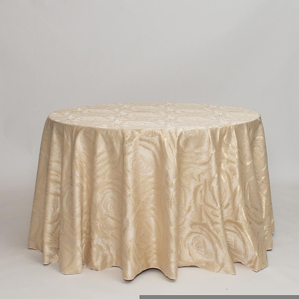 """M1129 / GOLD / """"ROSES"""" 100% POLYESTER AND LUREX WOVEN JACQUARD"""