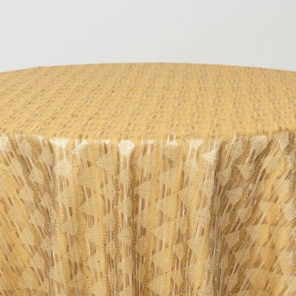 "M1134 / GOLD / ""DIAMOND"" 100% POLYESTER AND LUREX WOVEN JACQUARD"