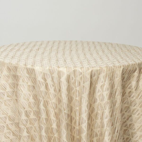 "M1134 / IVORY / ""DIAMOND"" 100% POLYESTER AND LUREX WOVEN JACQUARD"