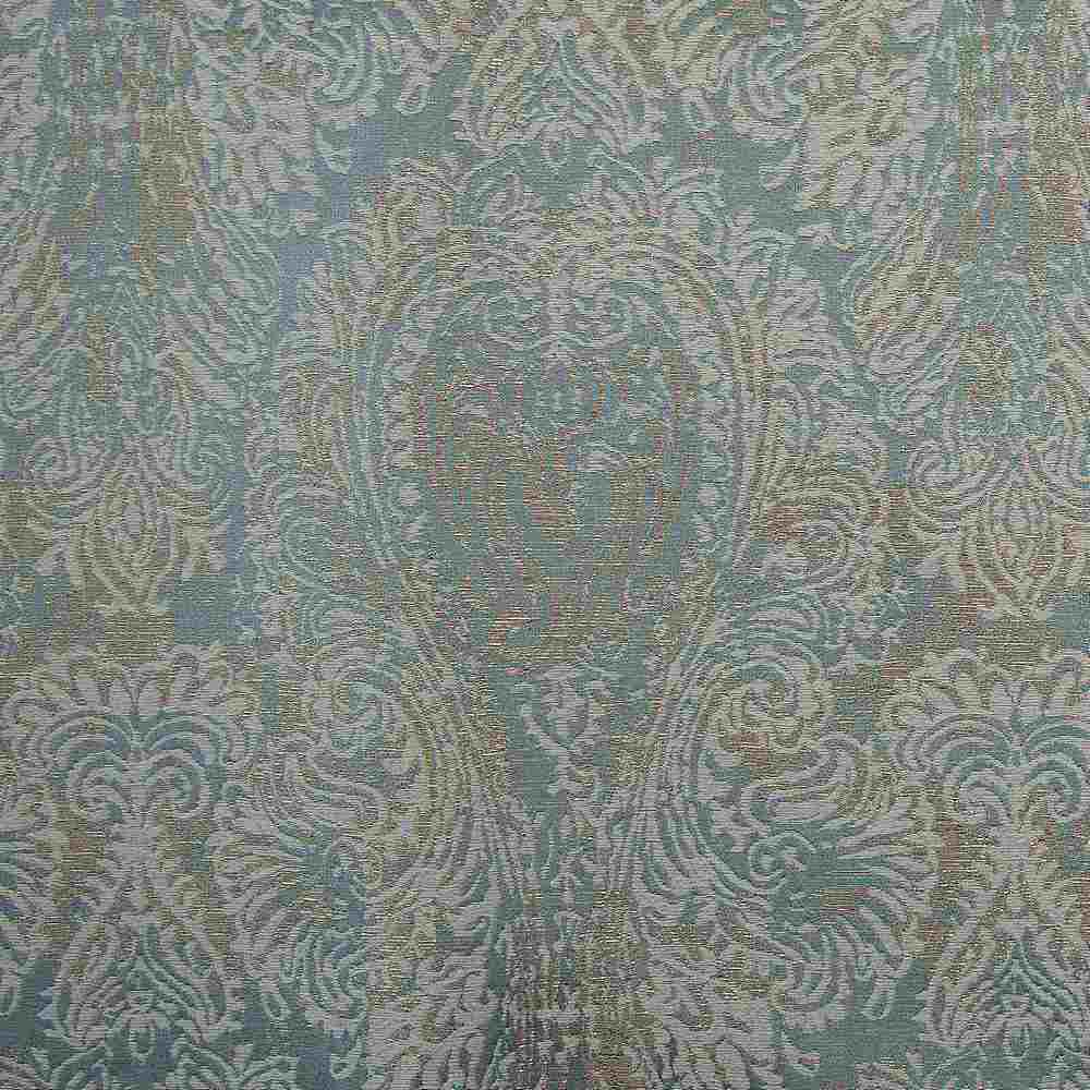 "M1135 / SEAFOAM / ""CHIC"" 100% POLYESTER AND LUREX WOVEN JACQUARD"