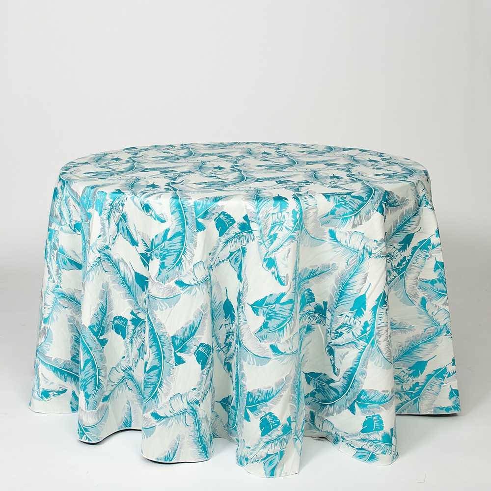 """M1136 / TURQUOISE / """"SUZIE"""" 100% POLYESTER AND LUREX WOVEN JACQUARD"""
