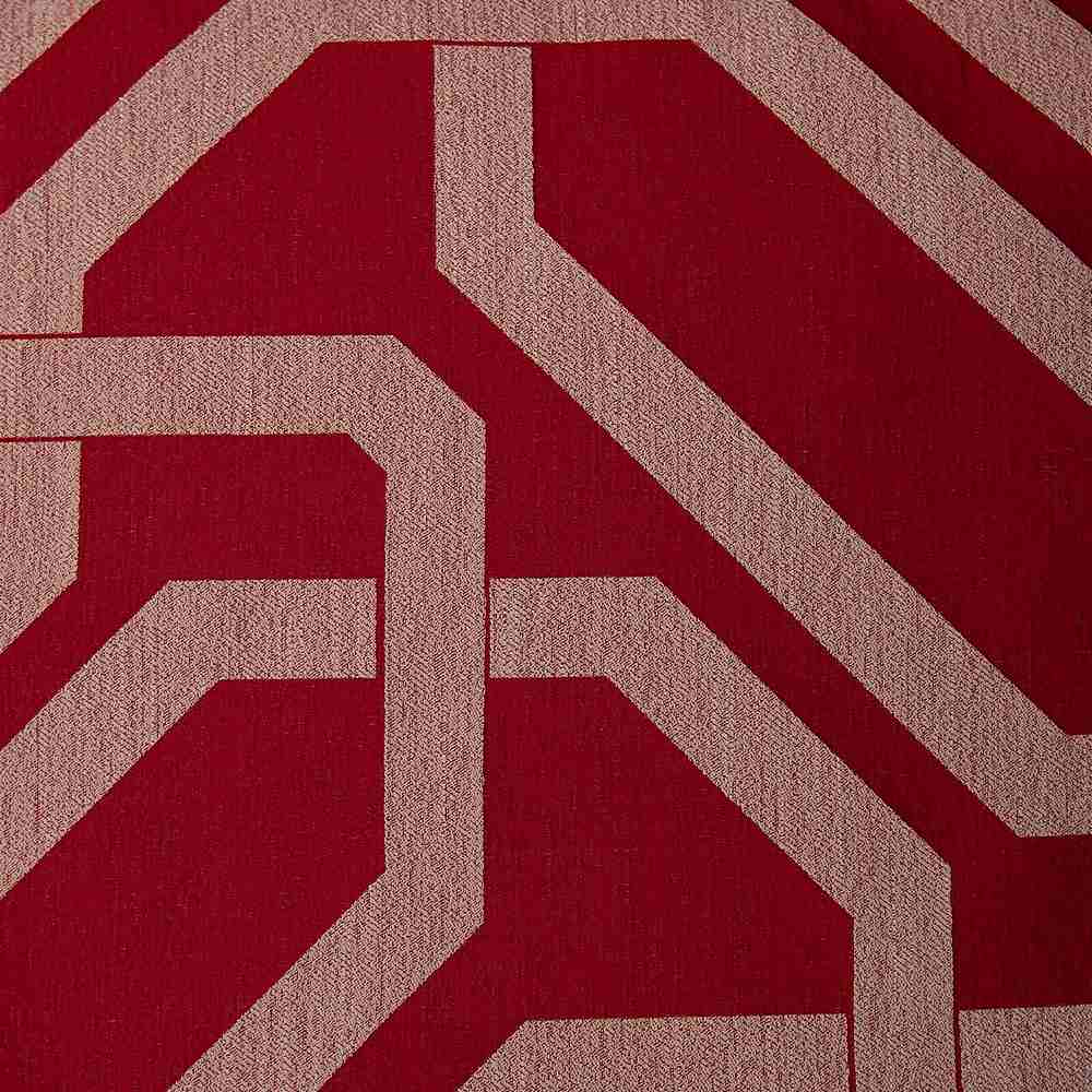 NOV/055 KETCHUP RESIDENTIAL GRADE JACQUARD WOVEN RED NOVELTIES POLYESTER 100% DOUBLE WIDTH OVER MODERN/CONTEMPORARY GEOMETRIC BEDDING PILLOW EVENT DECORATIVE DRAPERY ABSTRACT