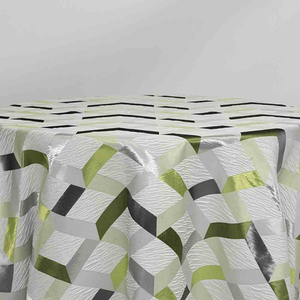 """M1139 / GREEN / """"Glory"""" 100% POLYESTER WOVEN JAQUARD"""
