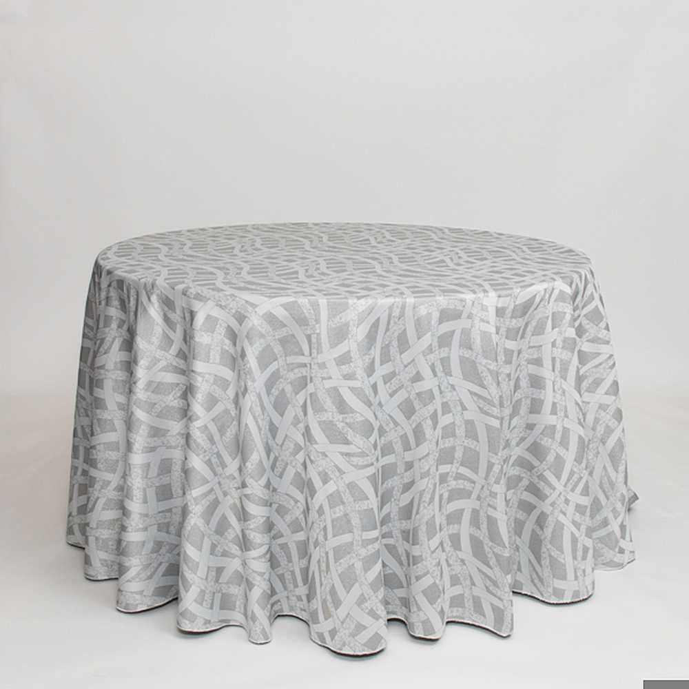 "M1140 / SILVER / ""GLAM"" 100% POLYESTER WOVEN JACQUARD AND LUREX"