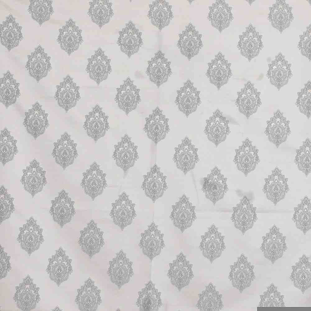 "NOV/059 / SILVER / ""ELEGANT"" 100% POLYESTER AND LUREX WOVEN JACQUARD"