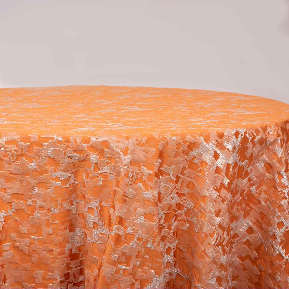 "M1151 / ORANGE / ""TREASURE"" 100% POLYETSER WOVEN JACQUARD & LUREX"